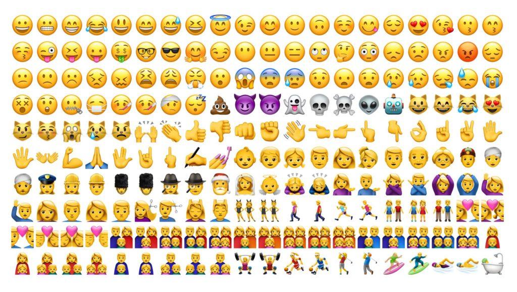 Und das meist verwendete Emoji ist: