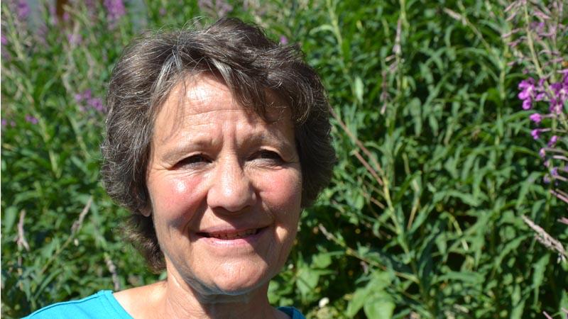 SAC Wanderleiterin Priska Thalmann kennt die Route über den Ritzengrat zum Rothorn.