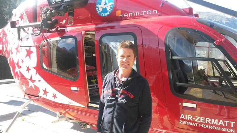 Robert Andenmatten ist Pilot bei der Air Zermatt und fasziniert von der Zermatter Bergwelt.