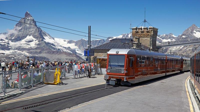 Die Gornergrat Bahn ist diehöchste im Freien angelegte Zahnradbahn Europas.